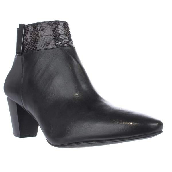 A35 Palessa Dress Ankle Boots, Anthracite/Black