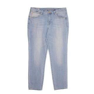 Jag Womens Evan Mid-Rise Slim Leg Ankle Jeans