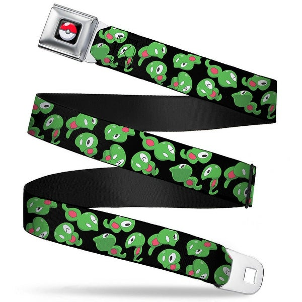 Pok Ball Full Color Black Zygarde Core Scattered Black Webbing Seatbelt Seatbelt Belt