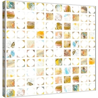 "PTM Images 9-101122  PTM Canvas Collection 12"" x 12"" - ""Circle Grid I"" Giclee Abstract Art Print on Canvas"