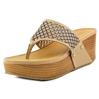 Kenneth Cole Reaction Fan Tastic Sandals Open Toe Leather Wedge Sandal