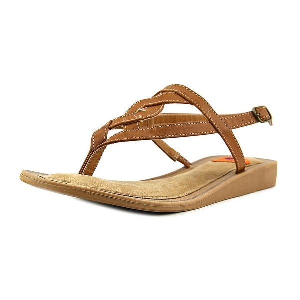 Rocket Dog Raja Desert Women Open-Toe Leather Brown Slingback Sandal
