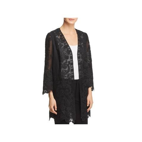 Kobi Halperin Womens Mina Midi Coat Spring Lace
