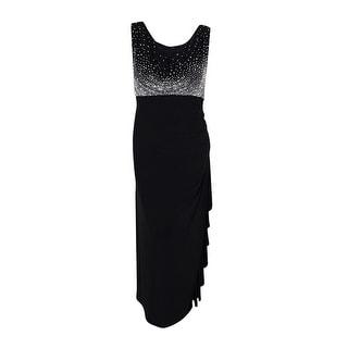 Betsy & Adam Women's Plus Long Split Sleeve Dress