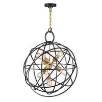"Artcraft Lighting AC10956 Orbit 6 Light 24"" Wide Globe Chandelier"