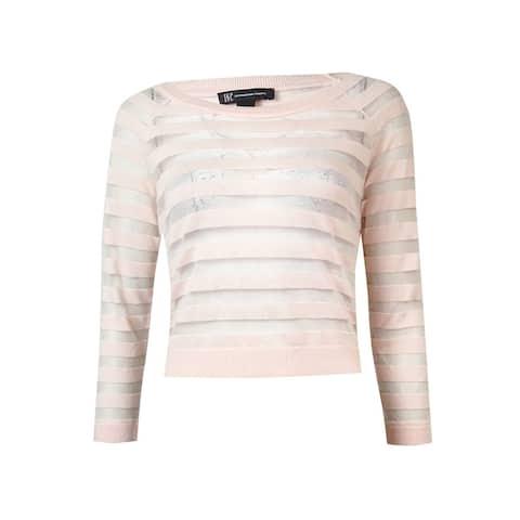 INC International Concepts Women's Sheer Striped Sweater