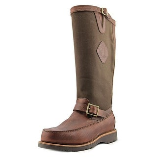 """Chippewa 17"""" Pullon All Around Snake Men 2E Round Toe Leather Brown Hunting Boot"""
