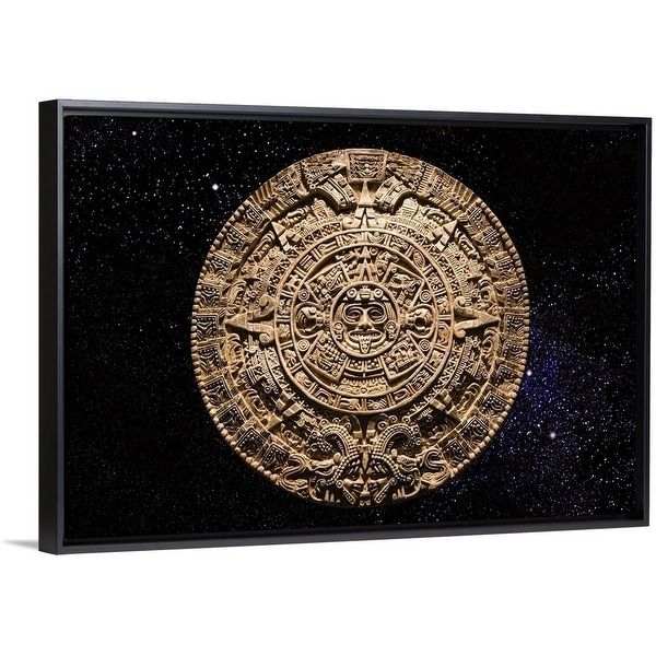 Shop aztec calendar stone carving in space multi color free