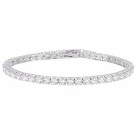 Tennis Link Designer Bracelet Womens Lab Diamonds Silver Tone New In Style