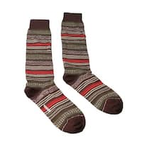 Missoni GM00CMU5236 0001 Olive/Cream Knee Length Socks