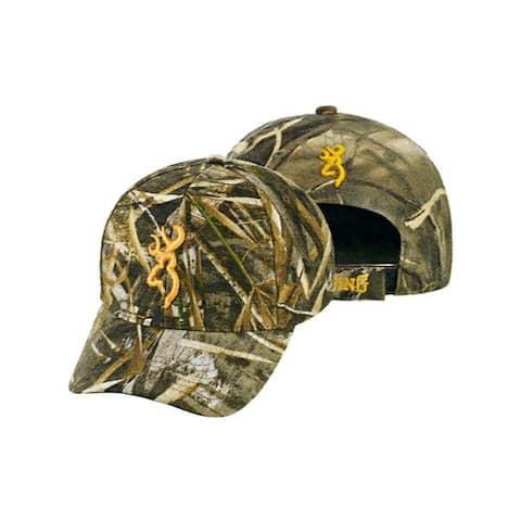 Browning 308379761 bg rimfire cap buck mark logo rtm5 hook and loop back