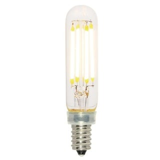 Westinghouse 5168020  Pack of (6) 4.5 Watt Dimmable T6 Candelabra (E12) LED Bulbs - 450 Lumens, 2700K, and 80CRI - Clear