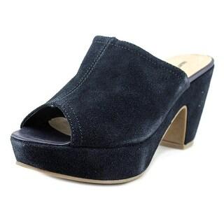 Fausta Moretti 44851 Women Peep-Toe Leather Blue Mules