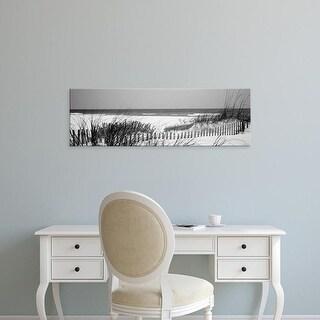 Easy Art Prints Panoramic Image 'Fence on the beach, Bon Secour National Wildlife Refuge, Baldwin, Alabama' Canvas Art