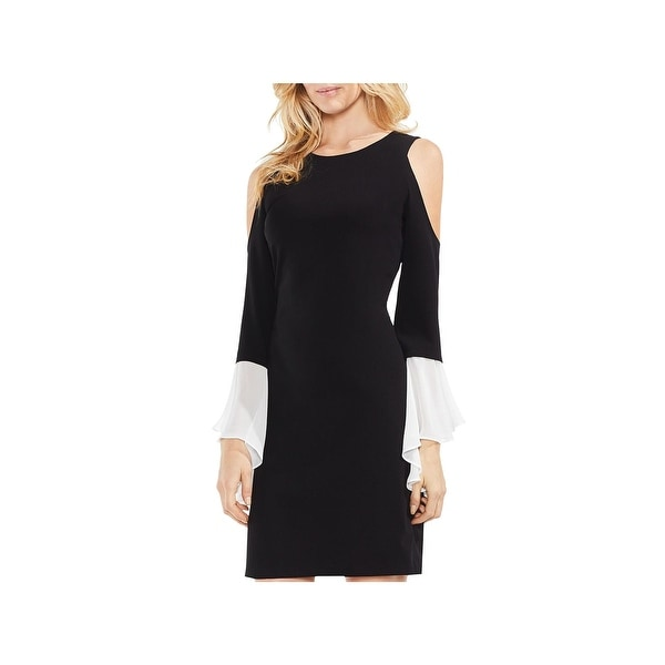 Vince Camuto Womens Party Dress Chiffon Cold Shoulder