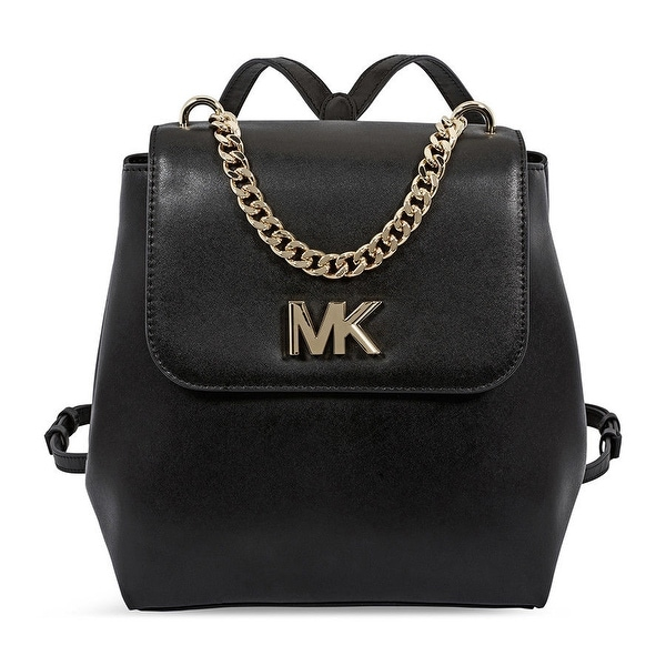 0714c2909334 Shop MICHAEL Michael Kors Mott Leather Black Backpack - On Sale ...