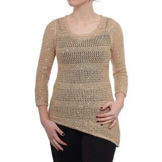 INC International Concepts Star Gift Crochet Tunic Top Women Tunic Top
