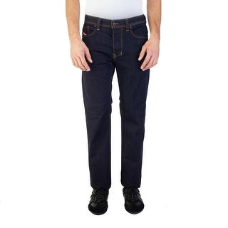 Diesel Men's Regular-Straight Fit Larkee R0841 Stretch Jean Pants Blue