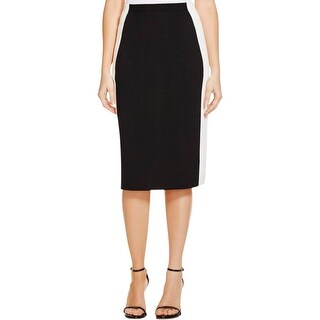 Lafayette 148 Womens Pencil Skirt Colorblock Elastic Waist