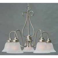 Volume Lighting V2355 Minster 5-Light 1 Tier Chandelier with Alabaster Glass Shade