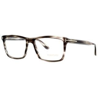 TOM FORD Rectangular TF 5407 Men's 005 Smoke Gray Havana Clear Eyeglasses - 54mm-16mm-145mm