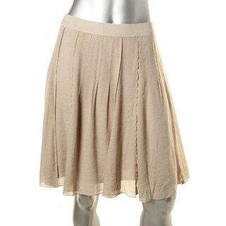 Nic + Zoe Womens Drifty Metallic Mesh A-Line Skirt