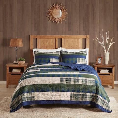 Woolrich Spruce Hill Green Oversized Cotton Quilt Set