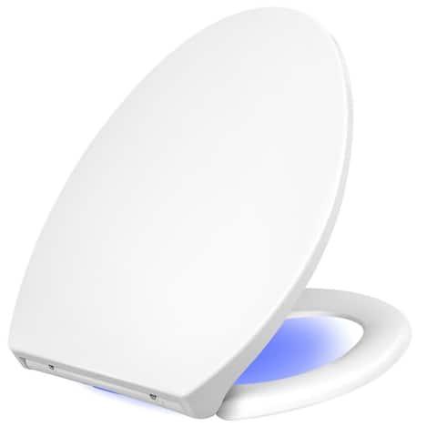 Auto LED Nightlight Quiet-close Lid Toilet Seat