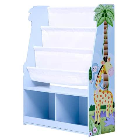 Fantasy Fields - Sunny Safari Book Rack Storage Kids Display Bookshelf