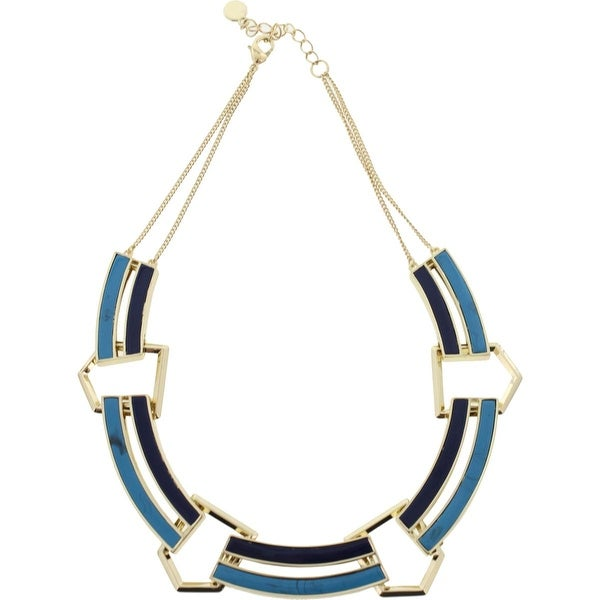 House of Harlow by Nicole Richie Womens Revolution Collar Necklace Turquoise - turquoise/lapis/gold