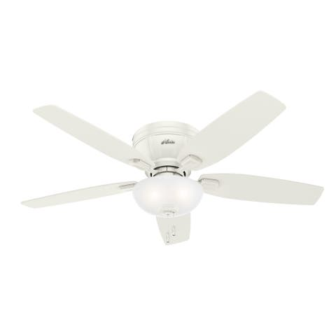 """Hunter 52"""" Kenbridge Low Profile Ceiling Fan with LED Light Kit and Pull Chain"""