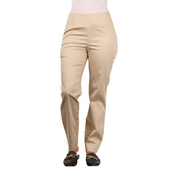 Larry Levine Ladies Cotton Sateen Ankle-Length Dress Pant