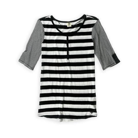 Roxy Womens High Spirits Henley Shirt, black, Small