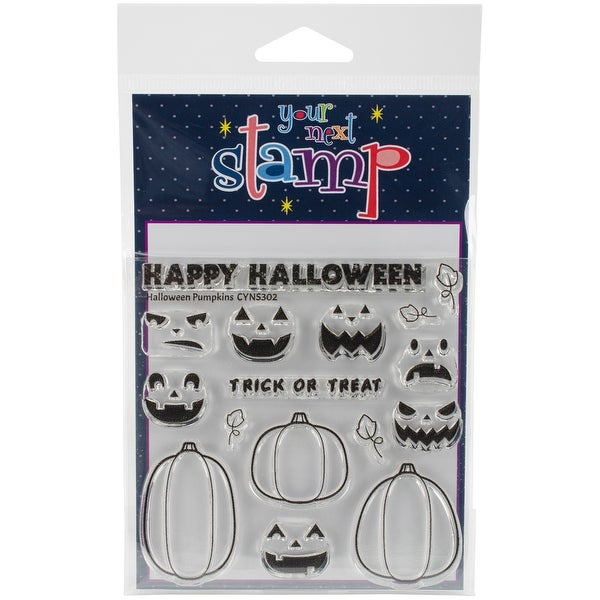 """Your Next Stamp Clear Stamps 4""""X4""""-Halloween Pumpkins"""