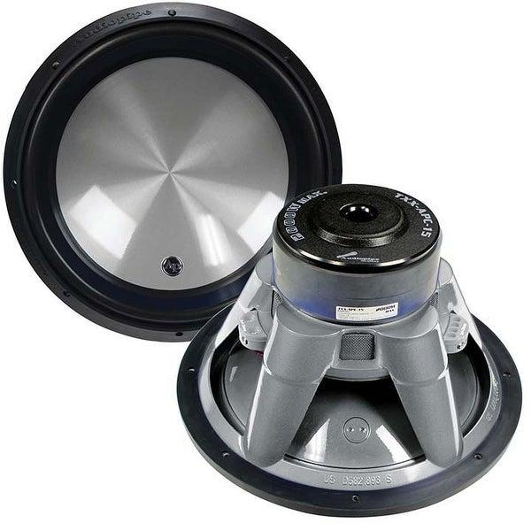 "Audiopipe 15"" Woofer 2000W Max 4 Ohm DVC Flat Gray"