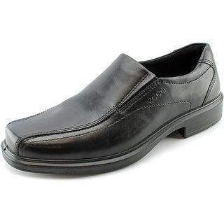 Ecco Helsinki Slip-On Men Bicycle Toe Leather Black Loafer