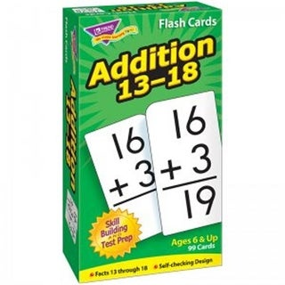 Flash Cards - Addition 13-18, 99 Per Pack - Pack of 3