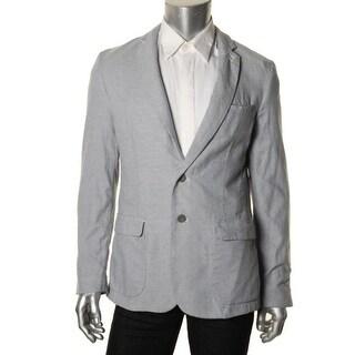 DKNY Jeans Mens Pattern Notch Collar Sportcoat - L