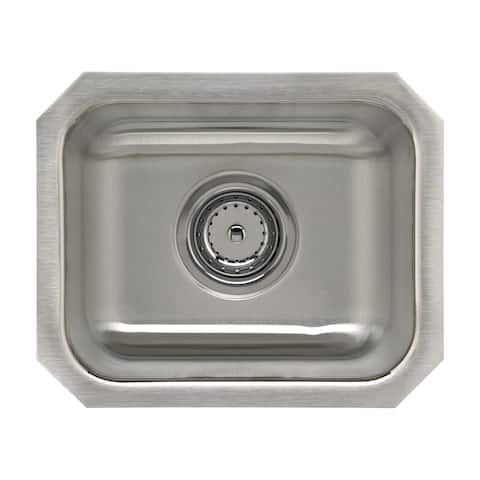 "Sterling UCL1515B SpringDale 14-1/4"" Single Basin Undermount Stainless Steel Bar Sink with SilentShield -"