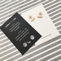 Honeycat Small Middle Bar Earrings (Delicate Jewelry) - Thumbnail 7