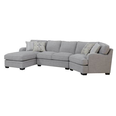 Porch & Den Diana Linen Grey Chofa Sectional