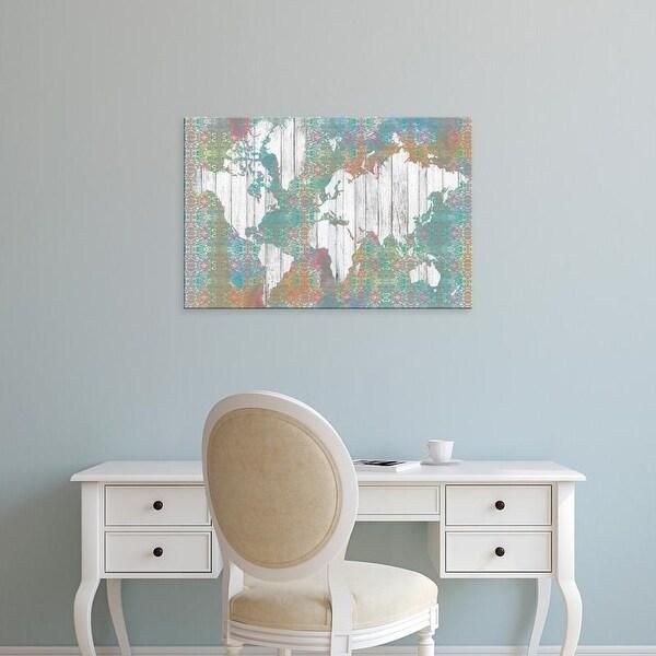 Easy Art Prints Jennifer Goldberger's 'Boho Map I' Premium Canvas Art