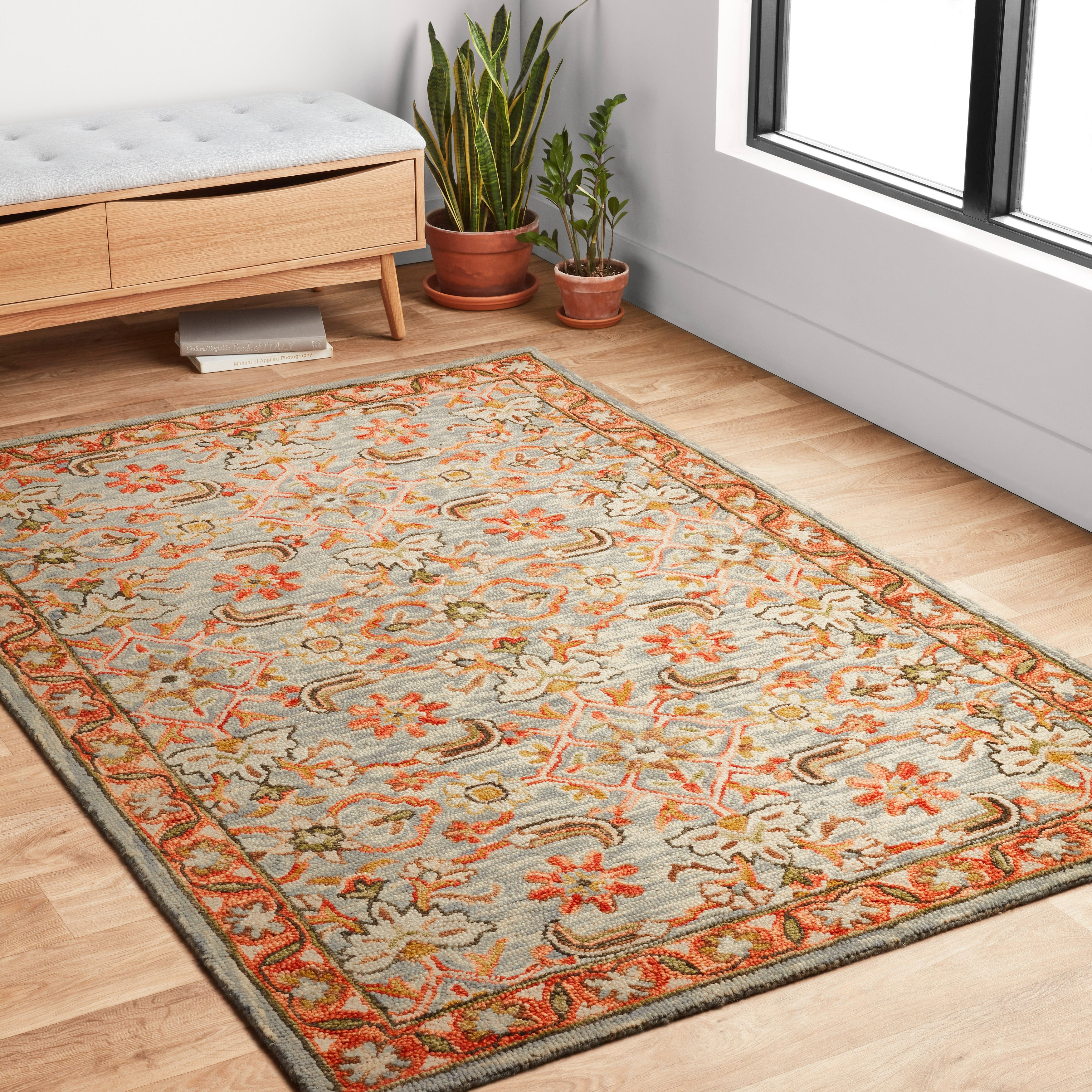 Alexander Home Madaline Traditional Floral Hand Hooked 100 Wool Area Rug On Sale Overstock 14039309