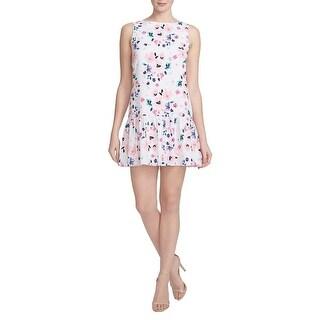 CeCe Womens Casual Dress Crepe Floral Print