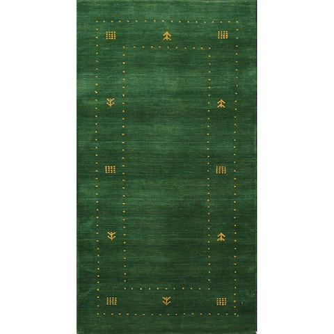 """Tribal Gabbeh Oriental Runner Rug Wool Hand-knotted Staircase Carpet - 2'5"""" x 4'7"""""""