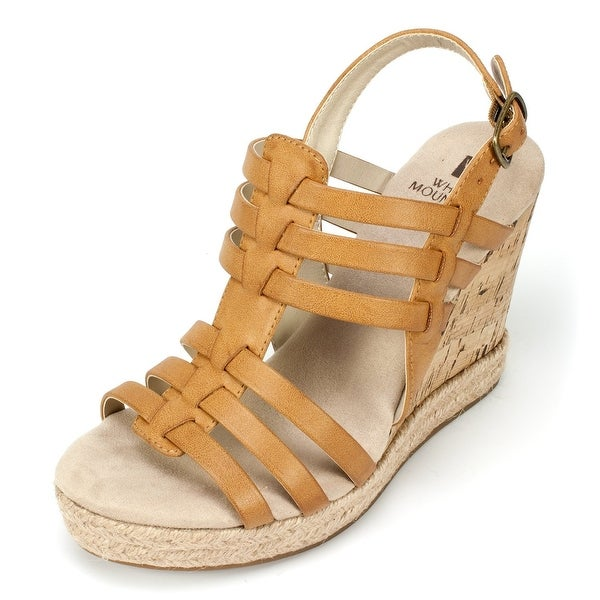 White Mountain Womens VERONIQUE Open Toe Casual Platform Sandals