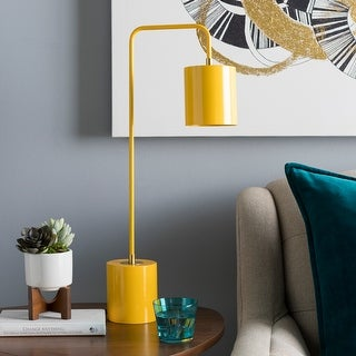 Ihsan Bright Yellow Metal Table Lamp