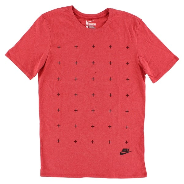 huge discount be5e0 24882 Shop Nike Mens Matte Silicon Futura T Shirt Red - Red black - Free Shipping  On Orders Over  45 - Overstock - 22615333