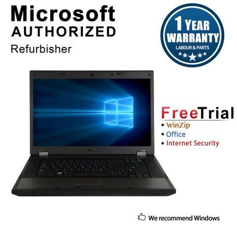 "Refurbished Laptop Dell Latitude E5510 15.6"" Intel Core i5-520M 2.4GHz 4GB DDR3 160GB Windows 10 Pro 1 Year Warranty - Black"
