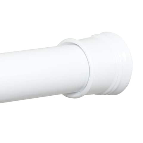 """Zenith 512W TwistTight Adjustable Tension Shower Stall Rod, White, 24""""-40"""""""